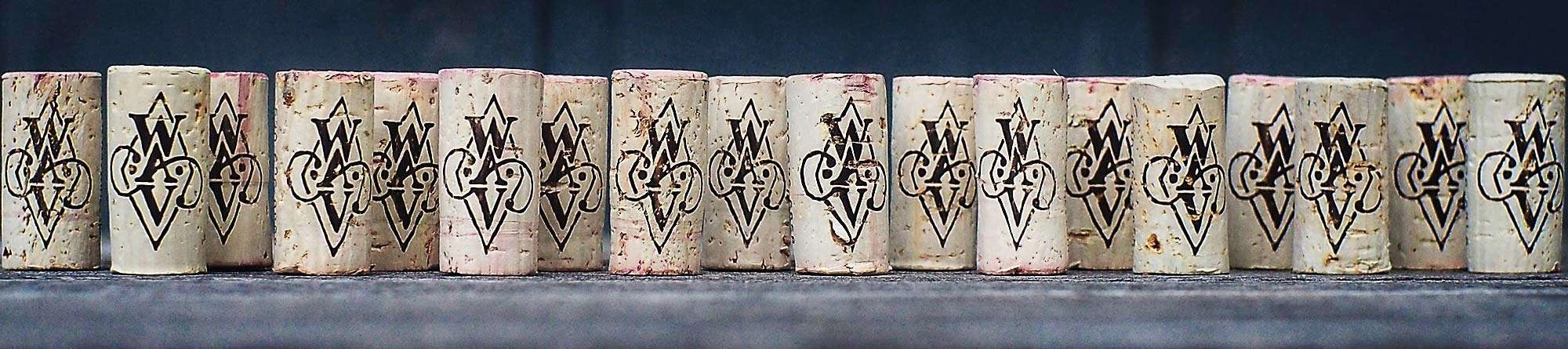 line of corks