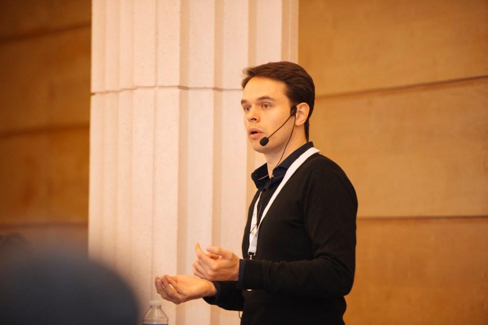 Moi lors d'une de mes conférences pour Google France