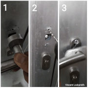 Fixing back door handles
