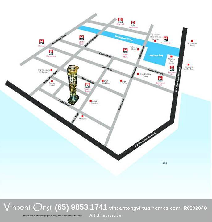 Skysuites @ Anson Location Map call 98531741