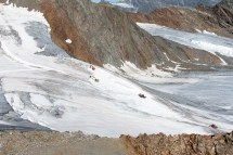 Preparation of ski slopes on a glacier - for WWF Austria, Pitztal / Austria 2019.