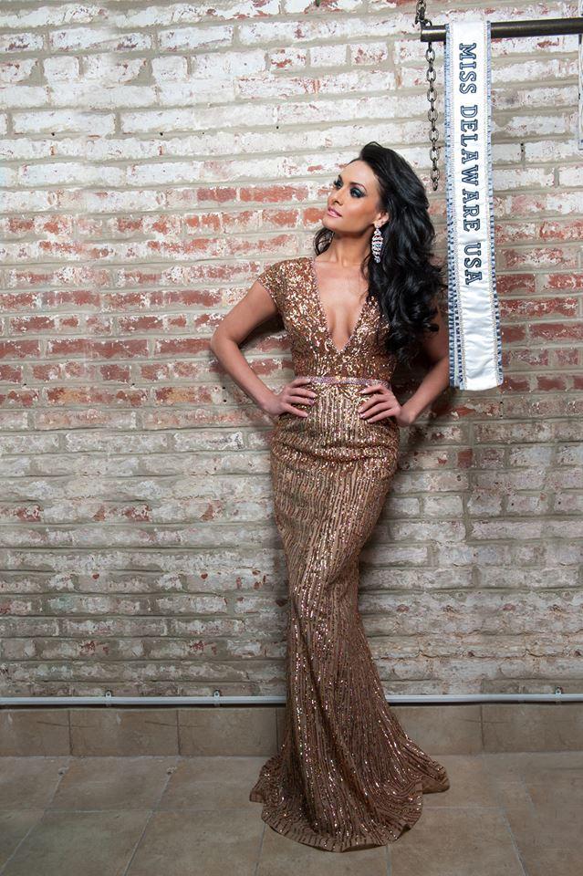 Miss Delaware Gold Dress