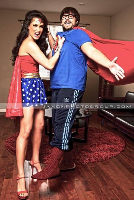 Wonder Woman married to Super Man