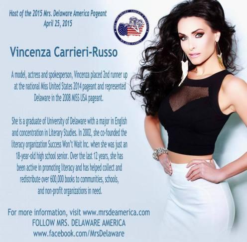 Mrs DE 2015 Hosted by Vincenza Flyer
