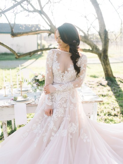 Italian Inspired Lace Gown