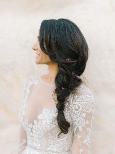 Italian Inspired Wedding Hairstyle