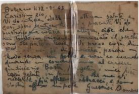 Lettera di Domenico Rocco dove scrive allo zio, dice che fu arrestato perchè scapa dal militare
