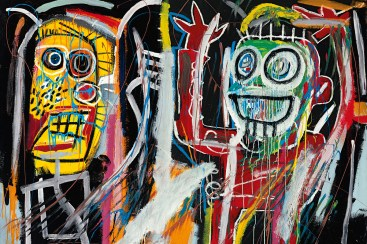 """Dustheads"" (1982) by Jean-Michel Basquiat is shown in this undated handout photo released to the media on May 15, 2013. It is estimated at $25,000,000 to $35,000,000. Source: Christie's Images Ltd. 2013 via Bloomberg"