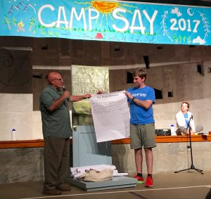 Vince Vawter with Ryan Millager at Camp SAY
