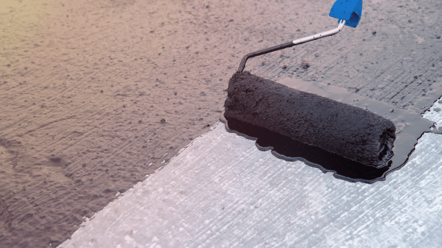 Water proofing method - Application of cementitious membrane