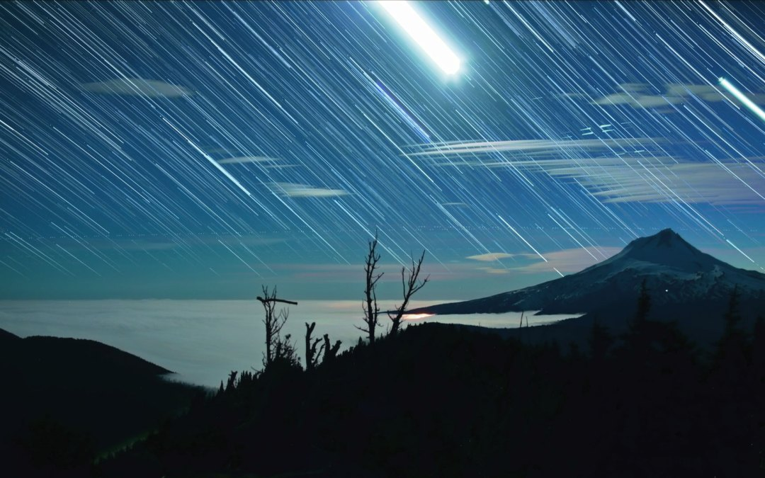 Stacking Photos for stunning star trails video.