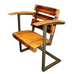 Captains Chair Exercise 2 Rustic Desk No Wheels