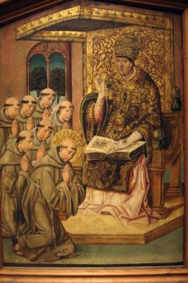 Pope Honorius III Approving th Rule of St. Francis; c.1500; Bartolome del Castro; Philadelphia Musuem of Art-1