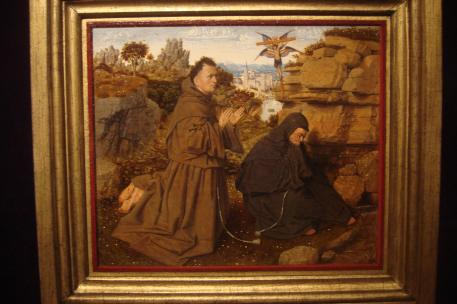 St. Francis of Assisi Receiving the Stigmata, 1430-32. Jan Van Eyck, 1441, Philadelphia Musuem of Art-1