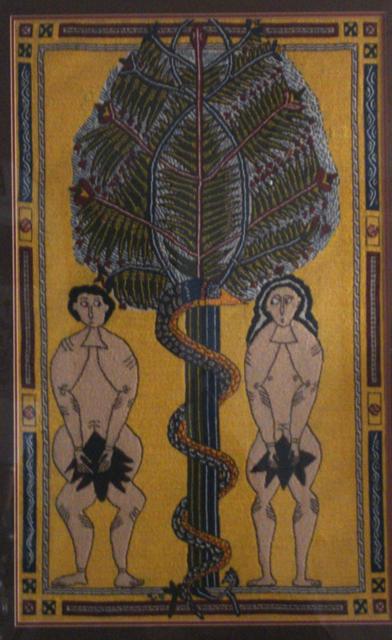 Adam and Eve, 10th century, Spanish prayerbook-1