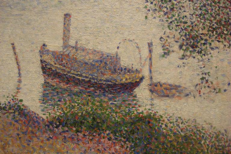Seurat, Gray Weather, Grande Jatte, 1886-88-2