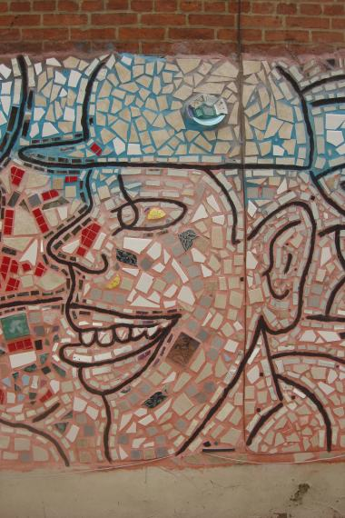 Tile murals Isaiah Zagar 10th Street Society Hill 09112015-4