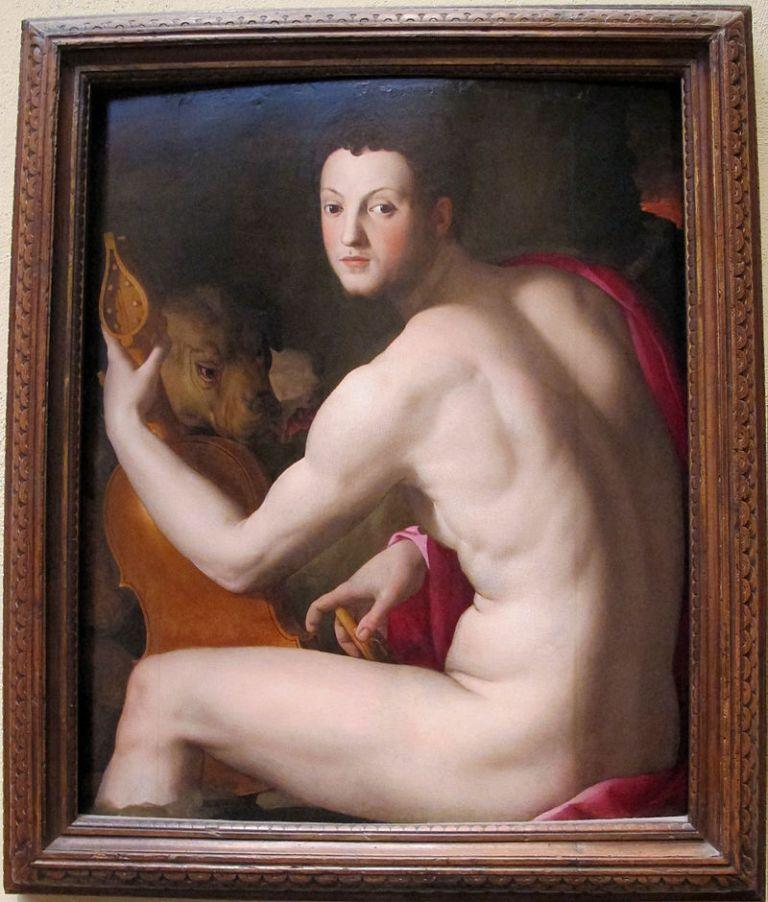 Agnolo_bronzino,_ritratto_di_cosimo_I_de'_medici_come_orfeo,_1537-39_(citaz._del_torso_belvedere)