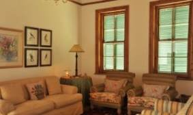 Inside the beautiful, remote old stone manor house