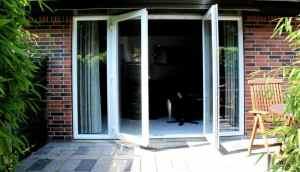 Dobbelt terrassedør i pvc
