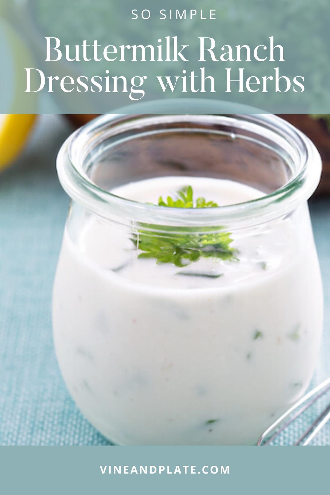 homemade buttermilk ranch dressing in a jar