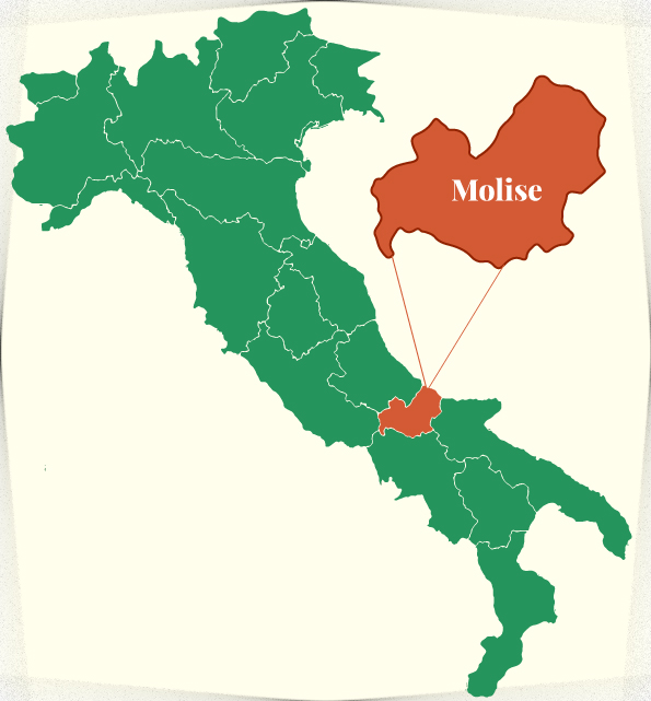 Italy Map highlighting Molise