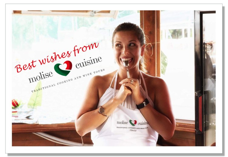 Postcard best wishes from Molise Cuisine from cooking class