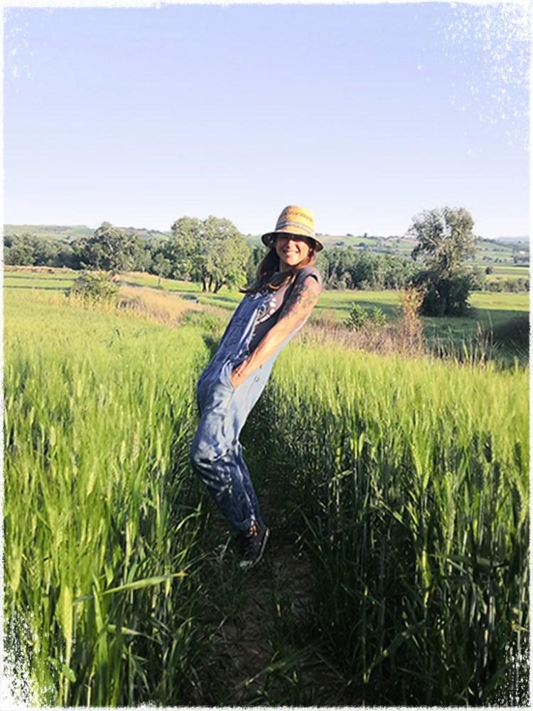 Ewa in a Field in Molise