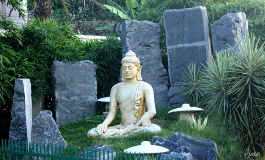 Buddha Statue in Rock Garden - Japanese Garden Chandigarh