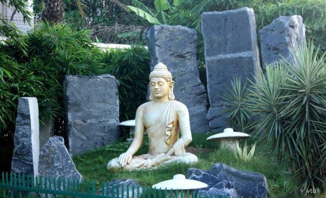 Buddha Statue in Rock Garden - Japanese Garden Chandigarh