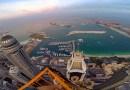 Видео: Британец залез на 450 метровое сооружение в Дубае.