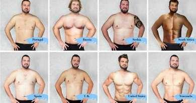 Как выглядит идеальное мужское тело в разных странах мира.