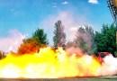 Видео: Падение композитного газового баллона с 30 метров.