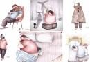 Душевные иллюстрации, в которых показана любовь отца и его маленькой дочки.