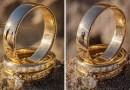 Уникальные фотографии свадеб в отражениях свадебных колец.