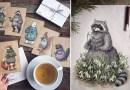 Художник из России рисует цветными карандашами потрясающих сказочных персонажей.