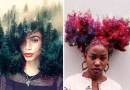 Художник с помощью фотошопа превращает волосы чернокожих женщин в фантастические миры.