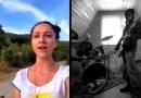 Красивое видео с поющими грузинскими девушками, которым подыгрывают рок-музыканты.