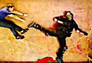 Эти эпические, бросающие вызов гравитации, драки стали возможными благодаря обычному трюку с камерой. [Видео]