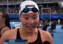 Потрясающая эмоциональная реакция китайской пловчихи, которой сообщили, что она завоевала бронзовую медаль. [Видео]
