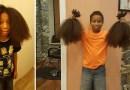 8-летний паренек остриг волосы, которые отращивал 2 года, специально для париков деткам, больных раком.