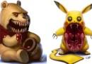 Художник превращает ваших любимых персонажей из мультфильмов в настоящих монстров из преисподней.