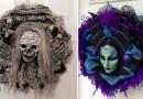25 вариантов венков на дверь для праздника Хэллоуин.