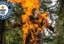 Видео: Человек-факел установил три рекорда и все три попали в Книгу рекордов Гиннесса.