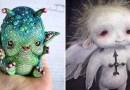 Художница из Испании создает немного жутковатые кукольные персонажи.