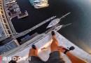 Видео: Невероятно опасный прыжок в воду с 40-метрового здания.