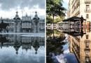Фотограф заснял «параллельные миры» в испанских лужах.