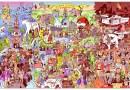 Художник изобразил на картине 127 событий, которыми запомнился 2016 год.