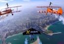 Парни в реактивных ранцах, совместно с командой Breitling Wingwalkers, полетали над Дубаем. [Видео]