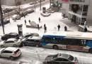 Видео: Такую вот картину можно порой наблюдать в морозное утро из окна канадского офиса.